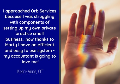 Business Plan Testimonial for Orb Services by KAVD