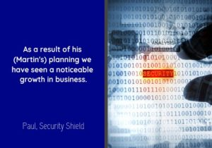 Business Plan Testimonial for Orb Services by Shield Security